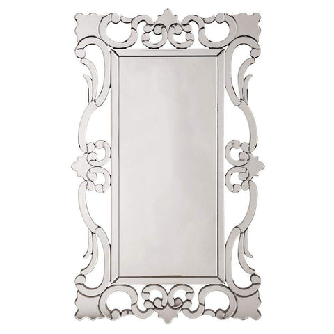 Howard Elliott Rebecca Mirrored Scroll Mirror 47H x 29W x 1D - 99087-Wall Mirror-Floor Mirror Gallery