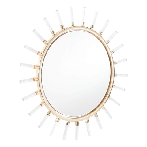 Zuo Modern Sunglight Mirror Gold A10415-Wall Mirror-Floor Mirror Gallery