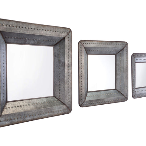 Zuo Modern Set Of 3 Antique Mirrors Antique A10716-Wall Mirror-Floor Mirror Gallery
