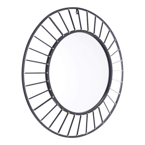 Zuo Modern Sunburst Mirror Black A10821-Wall Mirror-Floor Mirror Gallery