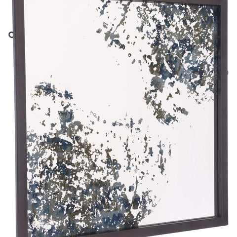 Zuo Modern Square Mirror Antique Blue A10827