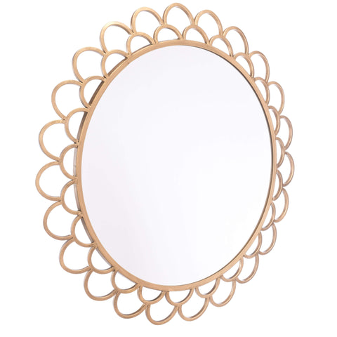 Zuo Modern Rani Circular Mirror Md Gold A10863-Wall Mirror-Floor Mirror Gallery