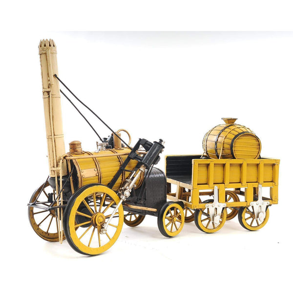 1829 Yellow Stephenson Rocket Steam Locomotive Model AJ011 by Old Modern Handicrafts-Models-Floor Mirror Gallery