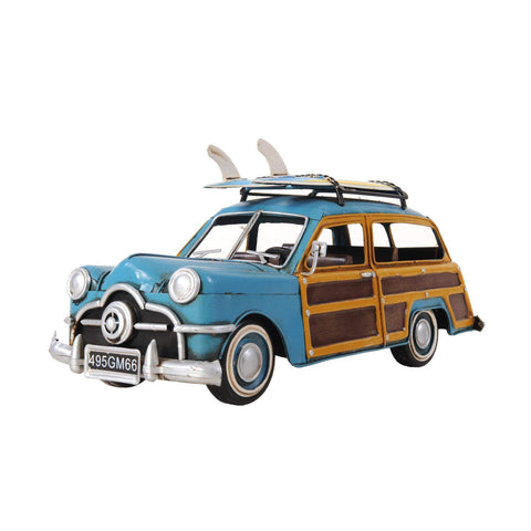 1949 Green Ford Wagon Car W/Two Surfboards Model AJ018 by Old Modern Handicrafts-Models-Floor Mirror Gallery