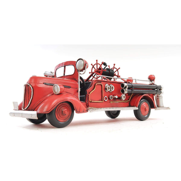 1938 Red Fire Engine Ford 1:40 Model AJ020 by Old Modern Handicrafts-Models-Floor Mirror Gallery