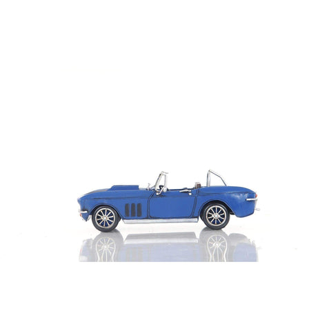 Blue Chevrolet Corvette Model AJ039 by Old Modern Handicrafts-Models-Floor Mirror Gallery