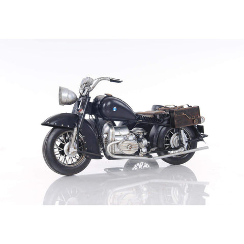 Black Vintage Motorcycle Model AJ042 by Old Modern Handicrafts-Models-Floor Mirror Gallery