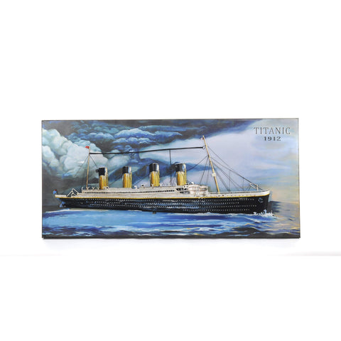 Titanic 3D Painting Model AJ046 by Old Modern Handicrafts-Models-Floor Mirror Gallery