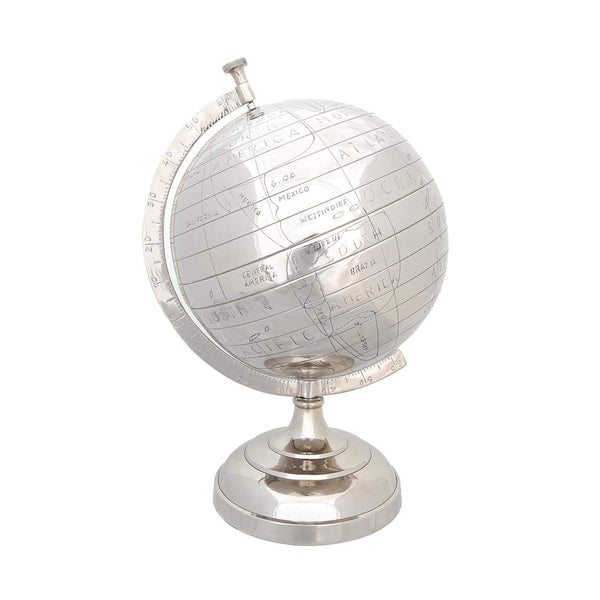 Alum Globe 13 Inches Model AK003 by Old Modern Handicrafts-Models-Floor Mirror Gallery