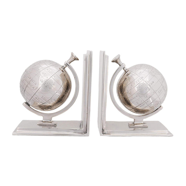 Alum Globe Bookend Set Of Two Model AK009 by Old Modern Handicrafts-Models-Floor Mirror Gallery