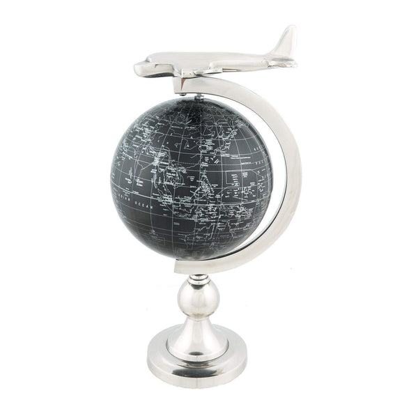 Airplane On Globe W Brass Stand Model AK020 by Old Modern Handicrafts-Models-Floor Mirror Gallery