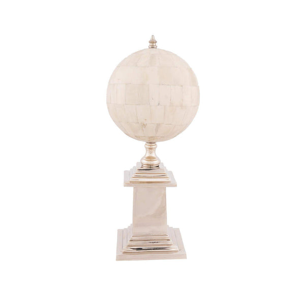 Bone Globe With Alluminum Base Model AK024 by Old Modern Handicrafts-Models-Floor Mirror Gallery