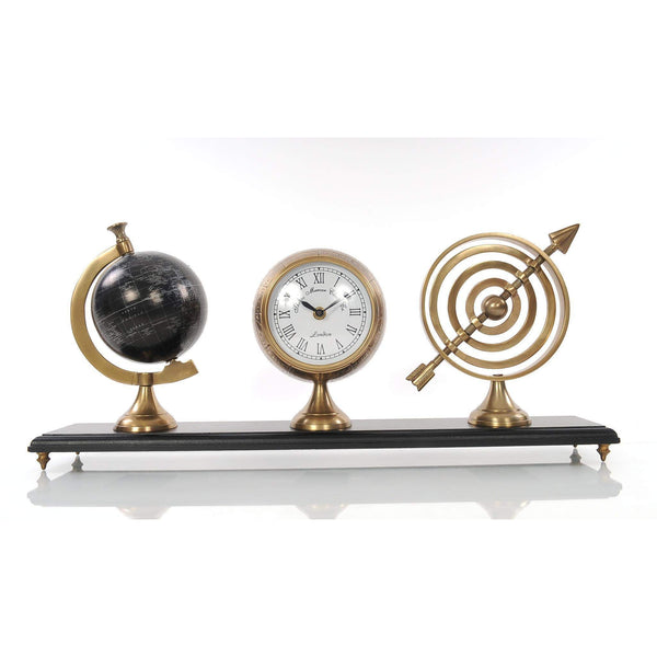 Armillery/Clock & Globe On Wood Base Model AK031 by Old Modern Handicrafts-Models-Floor Mirror Gallery