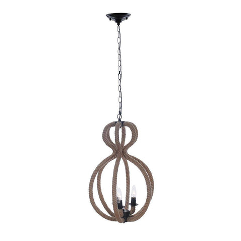 Rope Pendant Lamp - 3 Bulbs Model AL009 by Old Modern Handicrafts-Models-Floor Mirror Gallery