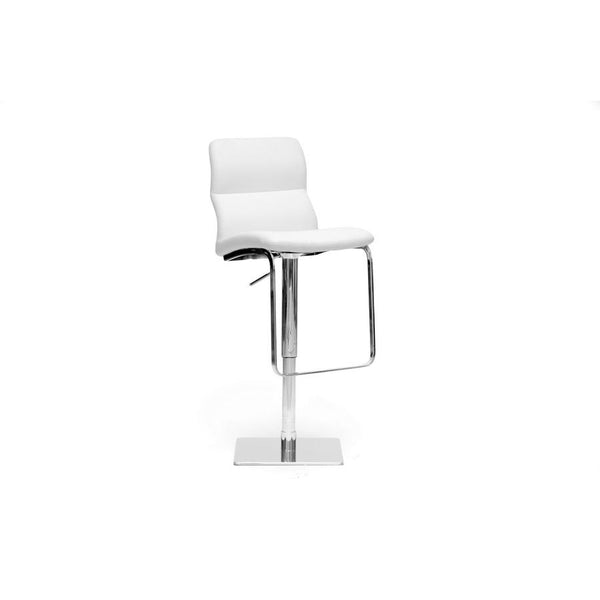 Baxton Studio Helsinki White Modern Bar Stool - ALC-2228-White-BS-Bar Stools-Floor Mirror Gallery