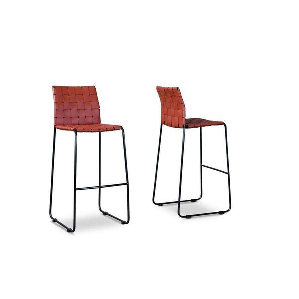Baxton Studio Fairfield Bar Stool - ALC-2933-75-Red-Bar Stools-Floor Mirror Gallery