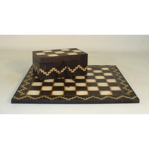 Southwest Applique Box and Board, Arte de Origen, Argentina, ART012, by WorldWise Imports-Chess Box and Board-Floor Mirror Gallery