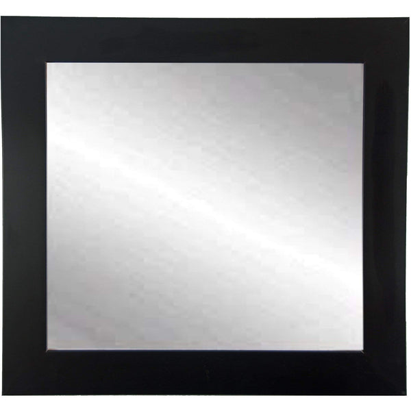 "Brandt Works Matte Black Square Mirror BM002SQ 32""x32""-Wall Mirror-Floor Mirror Gallery"