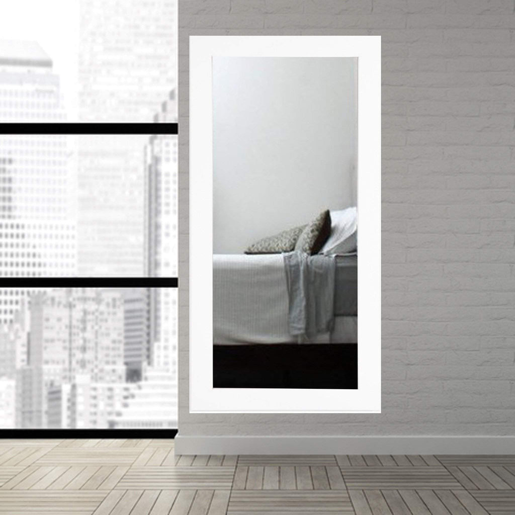 Wall mirrors floor mirror gallery brandt works pure white floor mirror bm003t 32x71 floor mirror gallery amipublicfo Gallery