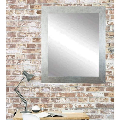 "Brandt Works Stainless Grain Wall Mirror BM004L2 32""x50""-Wall Mirror-Floor Mirror Gallery"