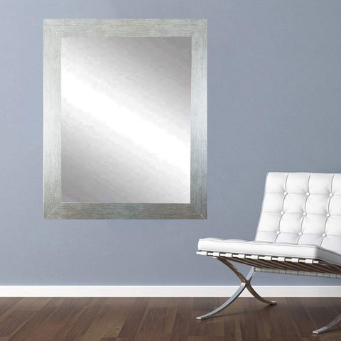 "Brandt Works Stainless Grain Wall Mirror BM004L 32""x38""-Wall Mirror-Floor Mirror Gallery"