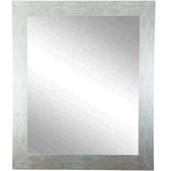 "Brandt Works Stainless Grain Wall Mirror BM004M 27""x32""-Wall Mirror-Floor Mirror Gallery"