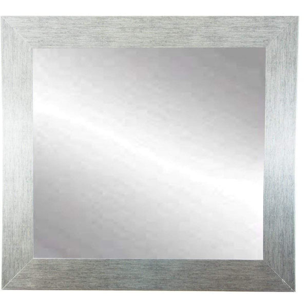 "Brandt Works Stainless Grain Square Wall Mirror BM004SQ 32""x32""-Wall Mirror-Floor Mirror Gallery"