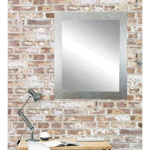 "Brandt Works Stainless Grain Wall Mirror BM004S 22""x32""-Wall Mirror-Floor Mirror Gallery"