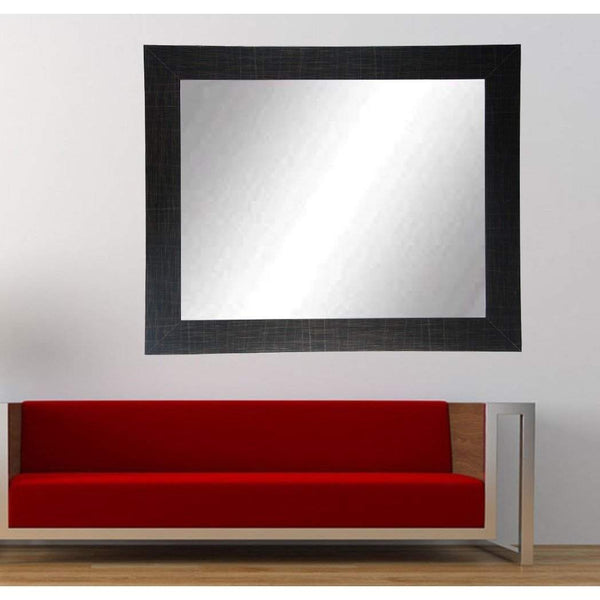 "Brandt Works Scratched Black Wall Mirror BM005L3 32""x55""-Wall Mirror-Floor Mirror Gallery"