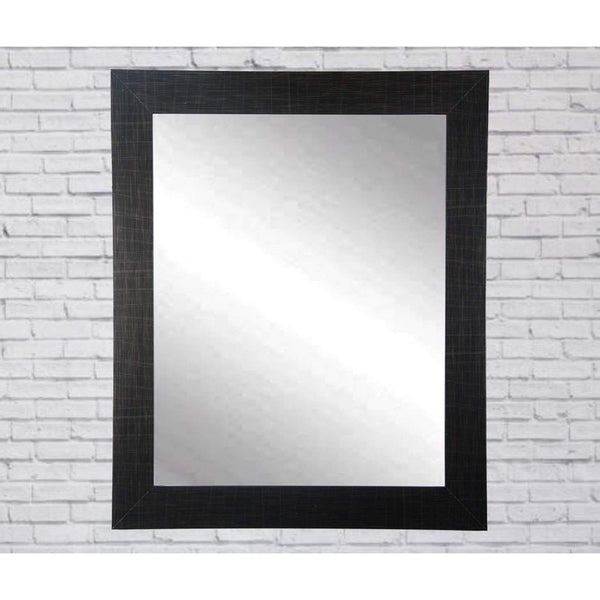 "Brandt Works Scratched Black Wall Mirror BM005M3 32""x41""-Wall Mirror-Floor Mirror Gallery"