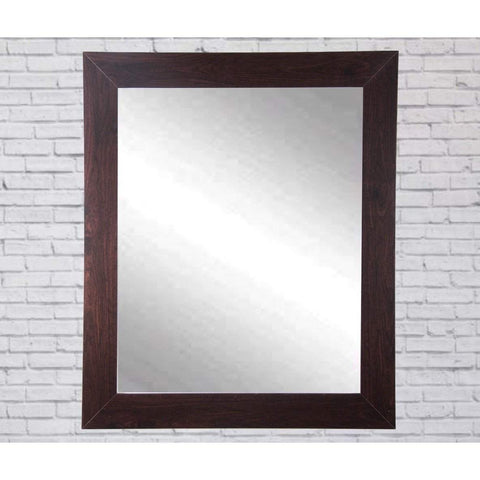 "Brandt Works Walnut Wall Mirror BM006L 32""x38""-Wall Mirror-Floor Mirror Gallery"