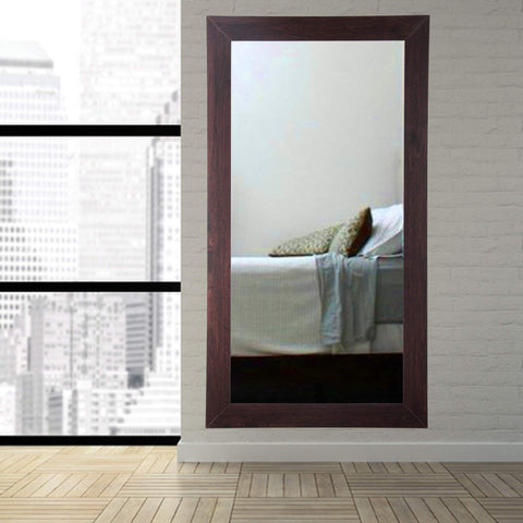 "Brandt Works Walnut Floor Mirror BM006TS 32""x66""-Floor Mirror-Floor Mirror Gallery"