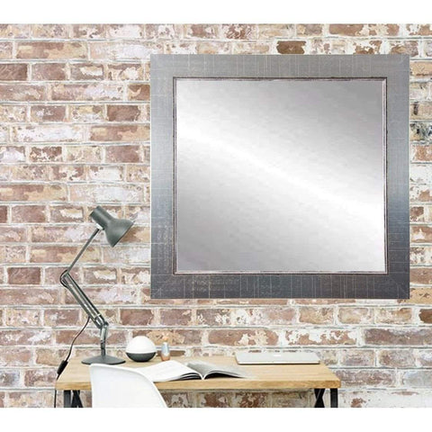 "Brandt Works Silver Lined Square Wall Mirror BM007SQ 31.5""x31.5""-Wall Mirror-Floor Mirror Gallery"