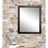 "Brandt Works Clouded Bronze Wall Mirror BM013L2 30""x48""-Wall Mirror-Floor Mirror Gallery"