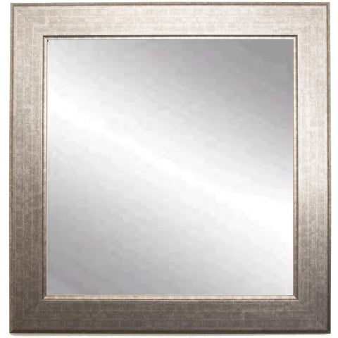 "Brandt Works Subway Silver Square Wall Mirror BM014SQ 32""x32""-Wall Mirror-Floor Mirror Gallery"