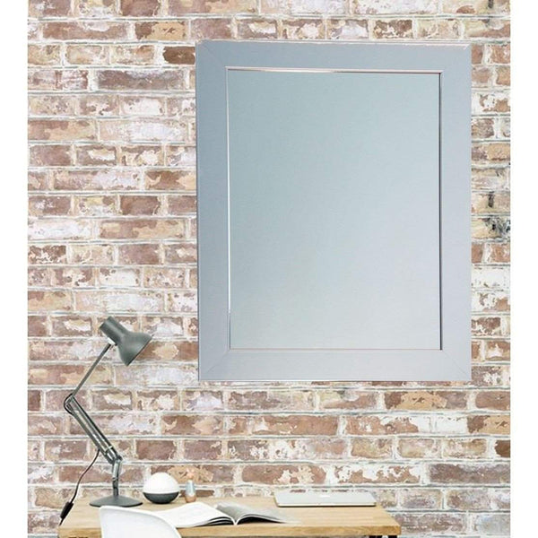"Brandt Works Chrome Wall Mirror BM015M3 32""x41"" - Floor Mirror Gallery"