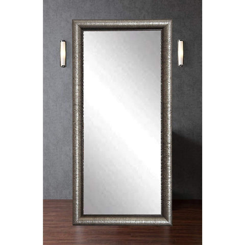 "Brandt Works Silver Metallic Floor Mirror BM016TS 32""x66""-Floor Mirror-Floor Mirror Gallery"