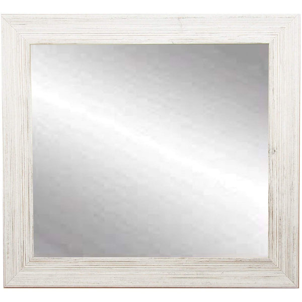 "Brandt Works Coastal Whitewood Square Wall Mirror BM018SQ 31.5""x31.5""-Wall Mirror-Floor Mirror Gallery"