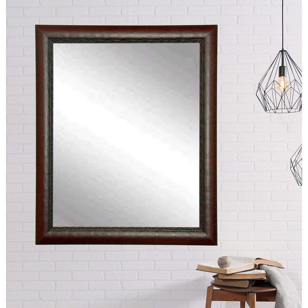 "Brandt Works Carved Mahogany Wall Mirror BM019L2 30.5""x48.5""-Wall Mirror-Floor Mirror Gallery"