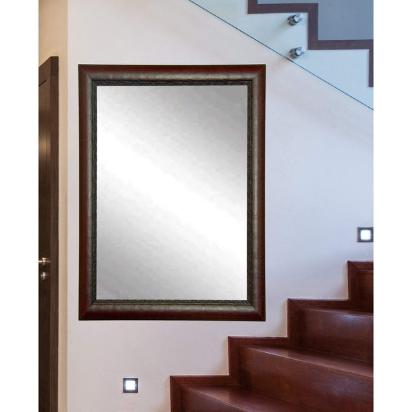 "Brandt Works Carved Mahogany Wall Mirror BM019L3 30.5""x53.5"" - Floor Mirror Gallery"