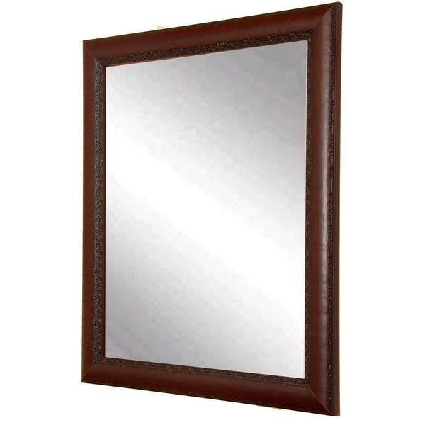 "Brandt Works Carved Mahogany Wall Mirror BM019M2 30.5""x34.5"" - Floor Mirror Gallery"