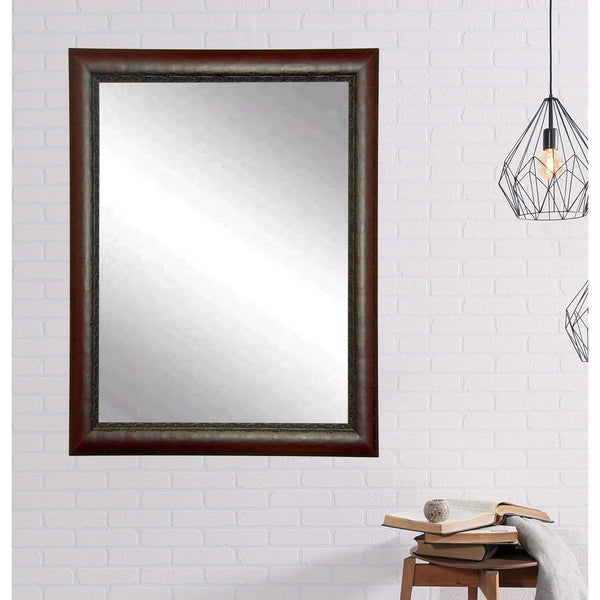 "Brandt Works Carved Mahogany Wall Mirror BM019M3 30.5""x39.5""-Wall Mirror-Floor Mirror Gallery"