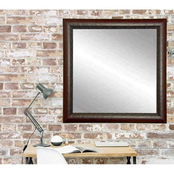 "Brandt Works Carved Mahogany Square Wall Mirror BM019SQ 30.5""x30.5"" - Floor Mirror Gallery"
