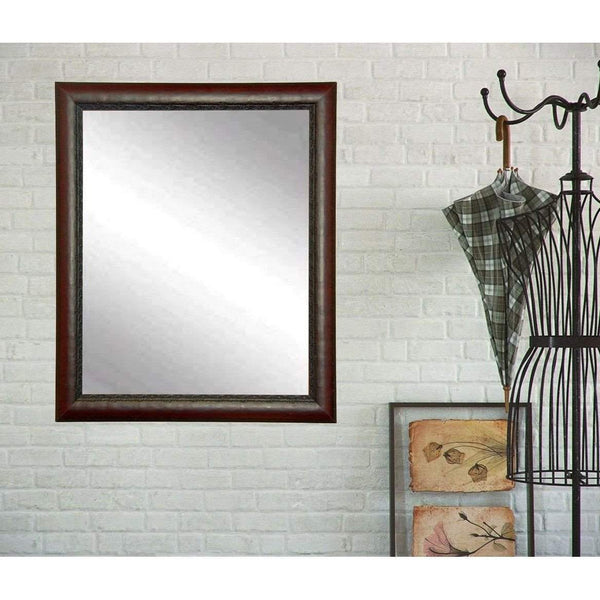 "Brandt Works Carved Mahogany Wall Mirror BM019S 20.5""x30.5""-Wall Mirror-Floor Mirror Gallery"