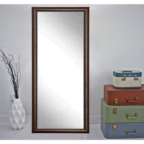 "Brandt Works Carved Mahogany Floor Mirror BM019TS 30.5""x64.5""-Floor Mirror-Floor Mirror Gallery"