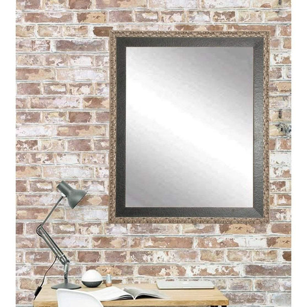 "Brandt Works Noble Black and Pewter Wall Mirror BM020L2 31""x49""-Wall Mirror-Floor Mirror Gallery"