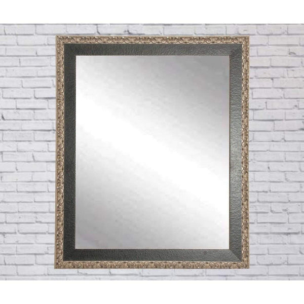 "Brandt Works Noble Black and Pewter Wall Mirror BM020L3 31""x54""-Wall Mirror-Floor Mirror Gallery"