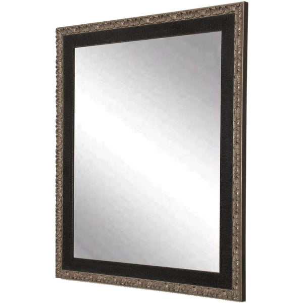 "Brandt Works Noble Black and Pewter Wall Mirror BM020M 26""x31""-Wall Mirror-Floor Mirror Gallery"