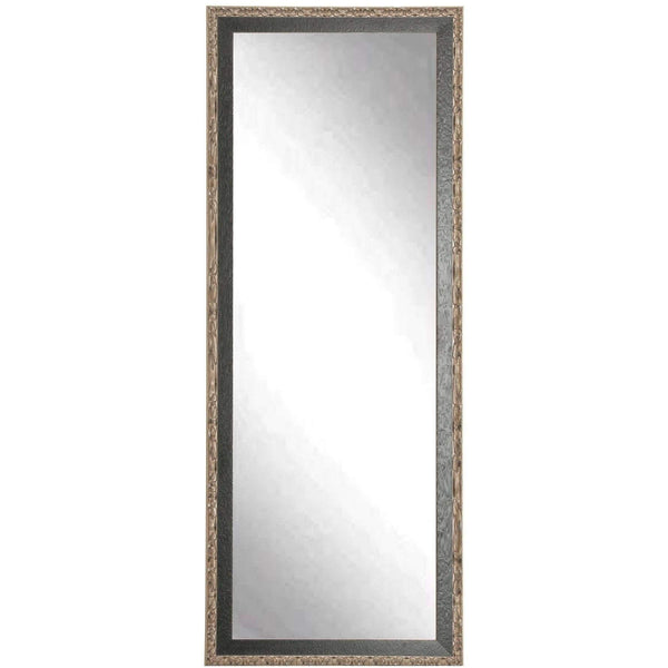 "Brandt Works Noble Black and Pewter Floor Mirror BM020TS 31""x65""-Floor Mirror-Floor Mirror Gallery"