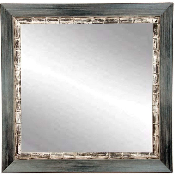 "Brandt Works Weathered Harbor Square Wall Mirror BM021SQ 32""x32""-Wall Mirror-Floor Mirror Gallery"